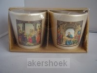 Kaarsen religieus set 2