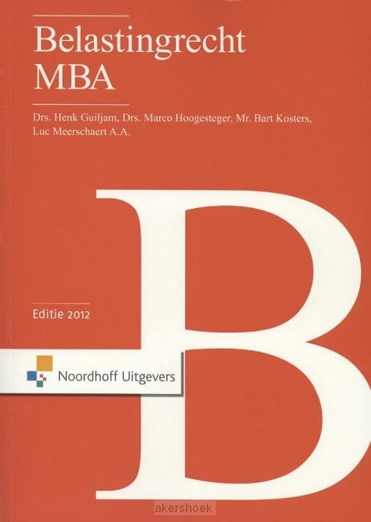 Belastingrecht MBA  / 2012