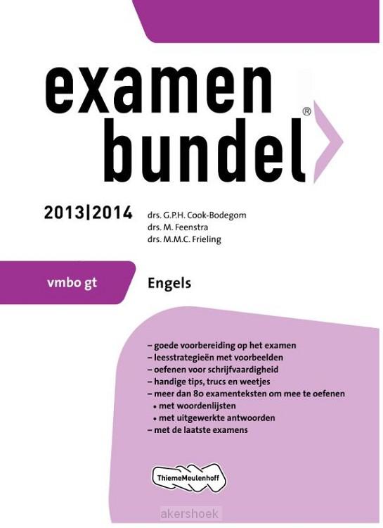 Examenbundel  / 2013/2014 vmbo-gt Engels