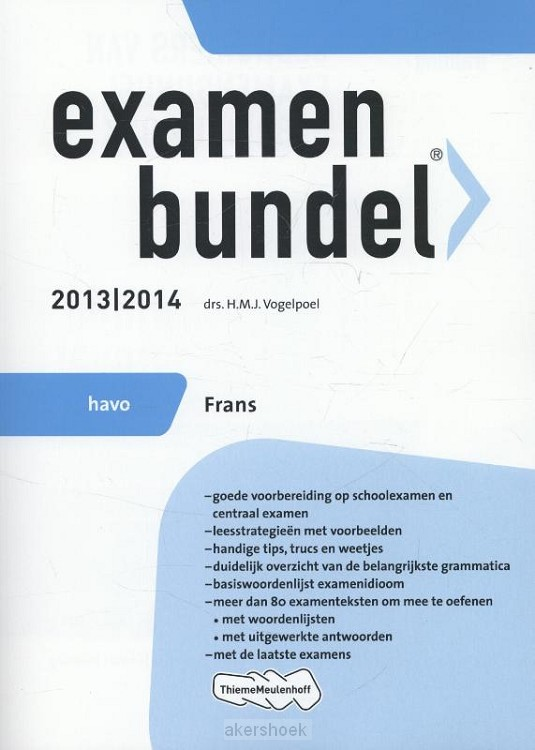 Examenbundel  / 2013/2014 havo Frans