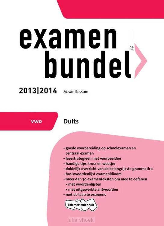 Examenbundel  / 2013/2014 Vwo Duits