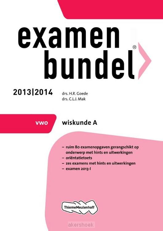 Examenbundel  / 2013/2014 vwo Wiskunde A