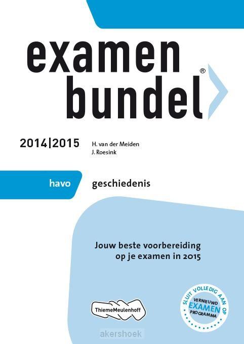 Examenbundel / 2014-2015 havo geschieden
