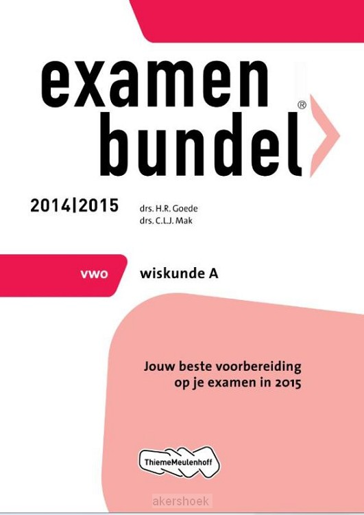 Wiskunde A / Vwo 2014/2015