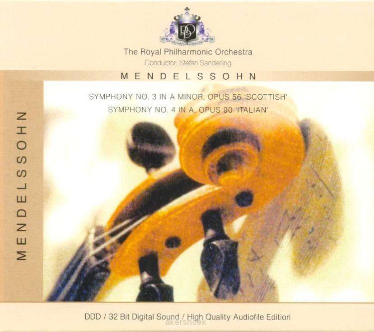 MENDELSSOHN SYMPHONY 3+4
