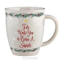 Christmas mug for unto you is born