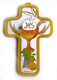 Kruisje communie met kelk