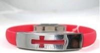 Bracelet open cross red