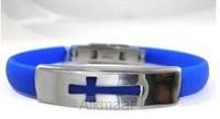 Bracelet open cross blue