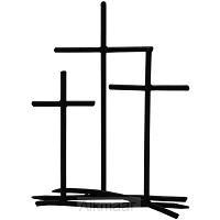 3 Crosses - Metal Tabletop Cross