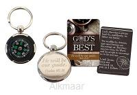 Compass keyring God's direction