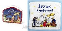 Handdoek katoen 30x30cm Jezus is geboren
