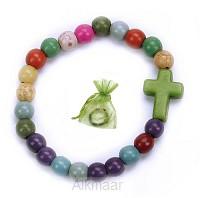 Kinderarmband kruis groen