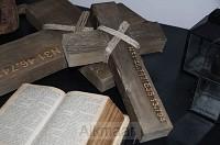 Ruw houten kruis authentiek S
