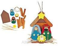 Craft kit nativity ornament