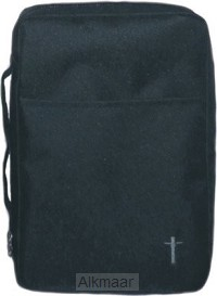 Biblecover canvas black cross xlarge