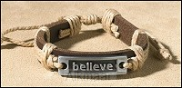 BRACELET LEATHER BELIEVE
