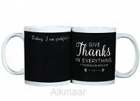 Chalkboard mug give thanks
