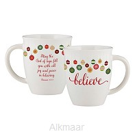 Christmas mug believe