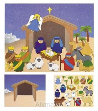 Sticker scene nativity