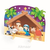 3d nativity stable sticker scenen