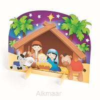 3d nativity stable sticker scenen