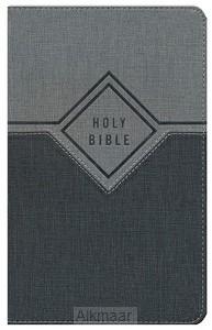 NIV - Prem. Gift Bible, Black/Grey, Lthr