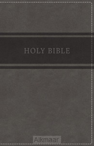 KJV - Deluxe Gift Bible, Grey Imit. Leat