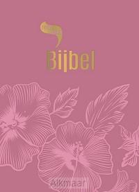 Roodletterbijbel design bloemen