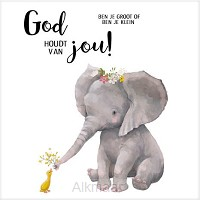 Cadeaubordje olifant God houdt van jou