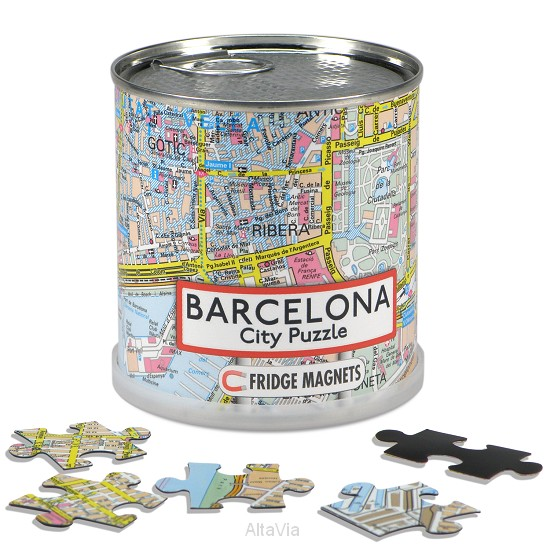 Barcelona city puzzle magnets
