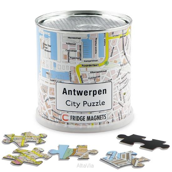 antwerpen city puzzel magnet