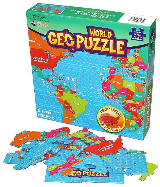 geopuzzel wereld