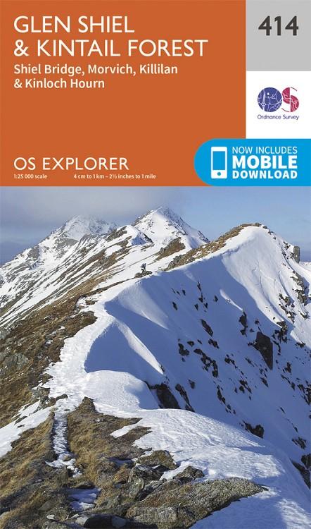 glen shiel kintail OS EX 414 1/25,000