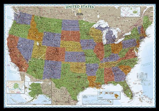 USA pol. plano gepl. decoratief ENG