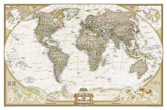 World pol. plano gepl. antiek ng