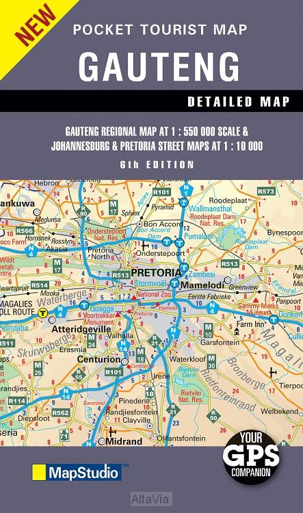 gauteng mapstudio 1/550 000