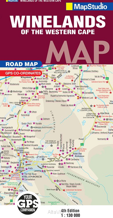 winelands western cape mapstudio 2012