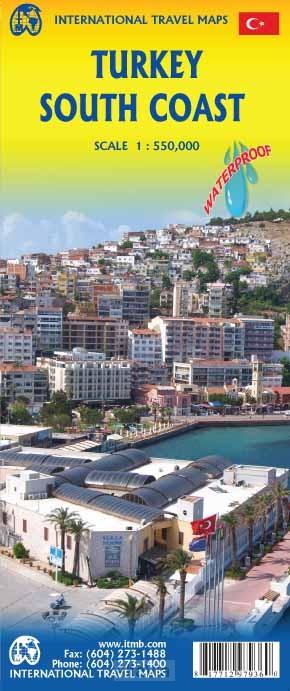 turkije zuidkust ITM 1/550,000 2016
