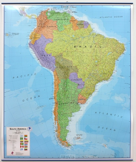 America South pol. gepl. met latjes mi