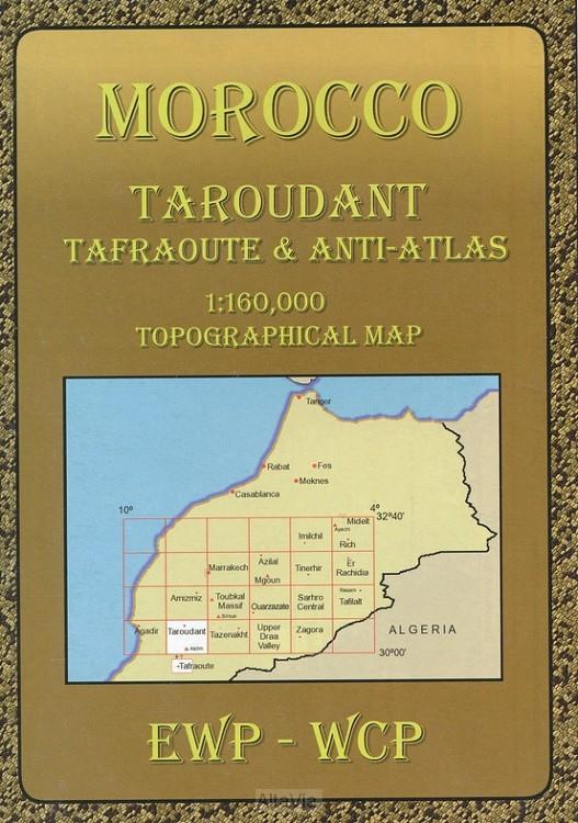 taroudant 1/160000 marokko atlas tafraou