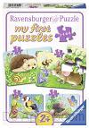 Dieren in de tuin 4 puzzels