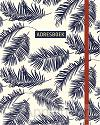Adresboek (groot) Botanical Blue