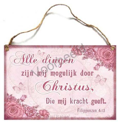 Alle dingen zijn mogelijk door Christus