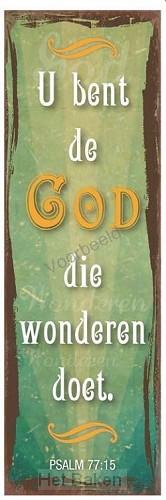 U bent de God Die wonderen doet