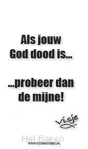 KAART VISJE ALS JOUW GOD DOOD IS