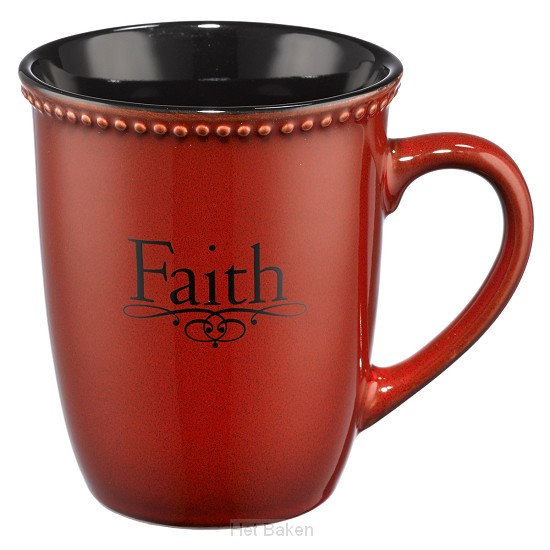 Faith - Red - Mug