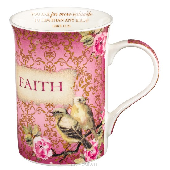 Faith - Pink - Mug with coaster