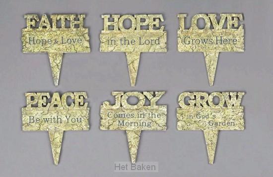 FAITH HOPE LOVE 15CM (PPO/6)