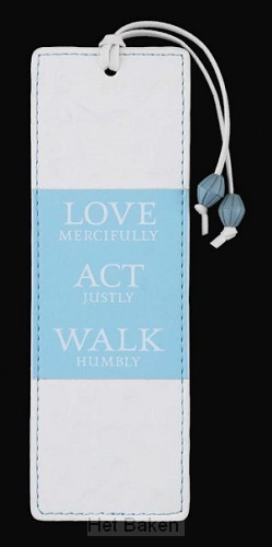 FAUX LEATHER BOOKMARK LOVE ACT WALK